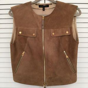 Escada brown suede vest for women